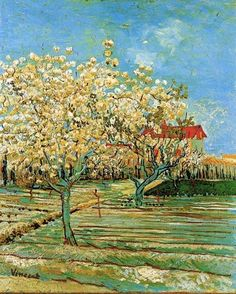 """""""Orchard in Bloom"""" by Vincent van Gogh (1853-1890)"""