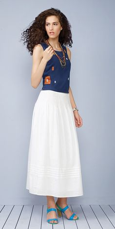 #summer #cool #skirt #cotton #top #easy #holiday #casual #mood #Fabels #Fabindia