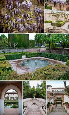 The Patio de la Acequia (Court of the Water Channel) in the Generalife Palace and Gardens