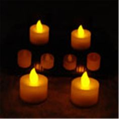 12pcs/lot LED Tealight Battery Operated Flickering Flicker Flameless Tea Candle Light For Wedding Birthday Party Christmas Home #Affiliate