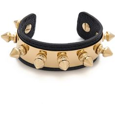 Aurelie Bidermann Camden Bracelet ($410) ❤ liked on Polyvore featuring jewelry, bracelets, accessories, navy, navy bracelet, spike jewelry, punk bracelet, bracelet bangle and navy jewelry