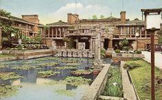frank lloyd wright's imperial hotel, japan.