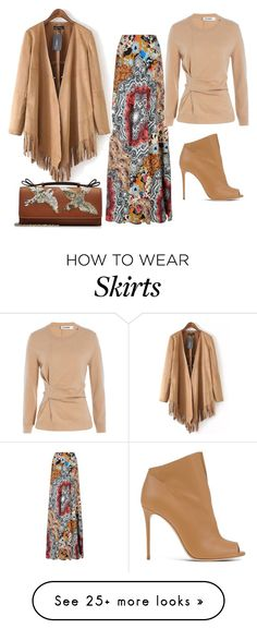 """""""Maxi Skirt"""" by sillycatgrl on Polyvore featuring Etro, Jil Sander, Casadei and RED Valentino"""