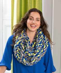 Ribbed Infinity Cowl - uk terms