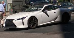 Lexus LC500 Strangely Snapped On New York's Streets Before 2017 Launch #Lexus #Lexus_LC