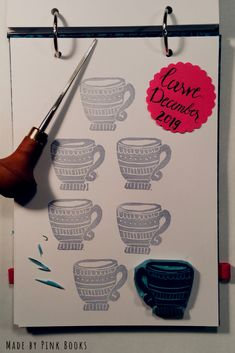 Day 15 of Carve December 2010- it's Christmas time....just have a cup of hot chocolate!  #CarveDecember;  #CarveDecember2019; check out: Balzer Designs: #CarveDecember 2019   #handcarvedrubberstamps; #handgeschnitztestempel; #diyrubberstamps;#linocut;#linolschnitt;#selbstgemachtestempel;#stempelselbermachen;#diystempel;#diystamps;#stempelselberschnitzen; #stampcarving; #stempelschnitzen; #printmaking;