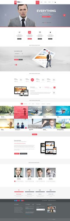 Booard - Corporate PSD Template - ThemeForest Previewer #alfa #red