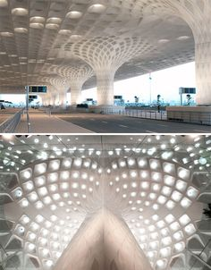 Fractal Architecture SOM Canopy (Mumbai) via http://weburbanist.com/2014/02/26/algorithmic-architecture-14-fractalparametric-structures/
