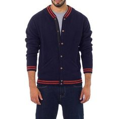 NOVICA Andes Men's Dark Blue Alpaca Blend Sweater Jacket (355 BRL) ❤ liked on Polyvore featuring men's fashion, men's clothing, blue, cardigans, clothing & accessories, sweaters, mens clothing and men's apparel