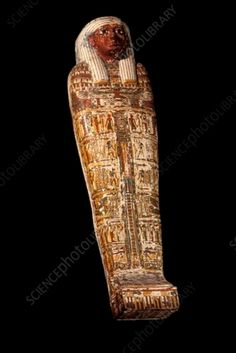 Egyptian mummy. Restored sarcophagus and mummy of Nemenket Amen. This mummy was given to the Mechitarist monks on the island of San Lazzaro degli Armeni, Italy, in 1825. It is thought to have been a priest of the god Amun. Photographed on San Lazzaro island, in 2006. Egyptian Mummies, Ancient Egypt