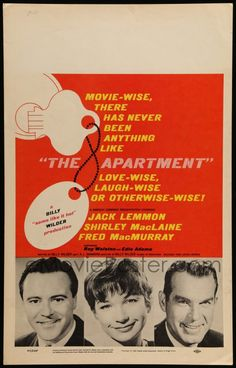 1 of 1 : 5p308 APARTMENT WC '60 Billy Wilder, Jack Lemmon, Shirley MacLaine, Fred MacMurray!