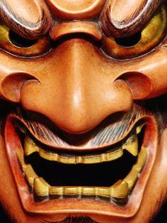 Detail of Japanese Noh mask