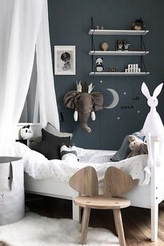 Inspiration from Instagram - ᗷenedιcтe @benedictewessel -black and white, boys room ideas, grey, black and white boys room, Scandinavian style, monochrome design kids room ideas, детский декор,