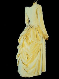 Stunning 1800's Ivory 2 Piece Bustle Dress – Wearable Museum Quality | eBay