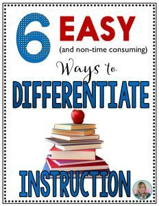 Easy ways to differentiate your instruction without time-consuming planning       http://teachingelawithjoy.com
