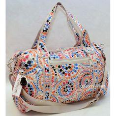 Kipling Itska SL4749 Tiled Print Duffel Bag