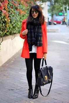 bright jacket with basics