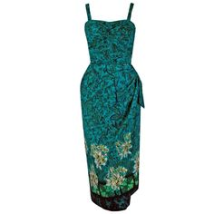 View this item and discover similar aesthetic day dresses for sale at - Alfred Shaheen was the most creative and prolific Hawaiian designer in post-WWII fashion. Pin Up Dresses, Day Dresses, Dresses For Sale, Summer Dresses, 1950s Dresses, Hawaiian Wear, Hawaiian Dresses, Vintage Hawaiian, Polynesian Dresses