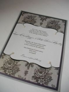 Victorian/vintage wedding invitation