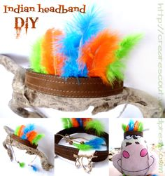Headband with feathers (indian costume DIY) | Creare Scout