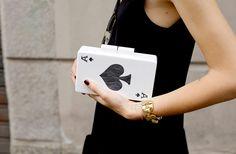 Urania Gazelli playing card clutches
