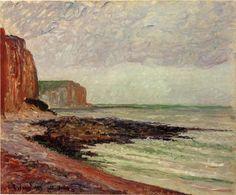 Camille Pissarro - Les falaises des Petites dalles  1883  Normandy : Les Petites dalles