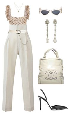 """""""Untitled #1716"""" by lucyshenton ❤ liked on Polyvore featuring Brock Collection, Bambah, Wet Seal, Versace, Lipsy, Alexander Wang and Chanel"""