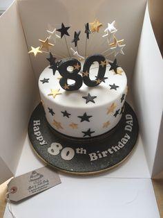 80th Birthday Cake For Men, 40th Cake, Elegant Birthday Cakes, Dad Cake, 90th Birthday Parties, Beautiful Birthday Cakes, 80th Birthday Decorations, Birthday Memes, Birthday Recipes