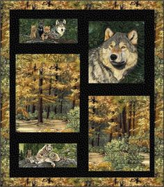 Wolf Territory Quilt Pattern HHQ-7356 (advanced beginner, lap and throw, wall hanging)