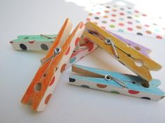 Colorful Wooden Pegs - I've painted mine with markers before.  Also can use nail polish that you purchased that doesn't look as good on you as you hoped.