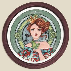 Cross stitch chart - LUCIE from an original artwork of Clélia Grillon