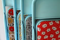 Paint and re-cover old folding chairs