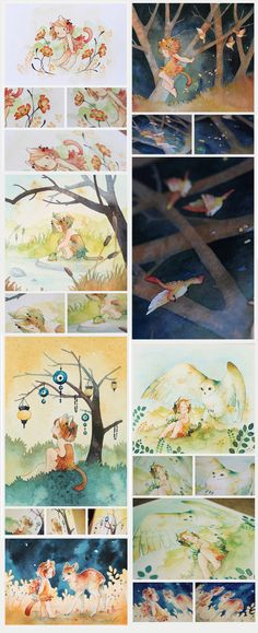 Watercolors [tumblr] by *Rozenng on deviantART