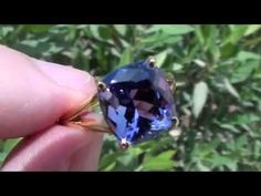AAA Tanzanite 5.37ct   22ct Gold Ring