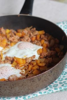 #paleo Simple Chorizo Butternut Squash Hash