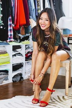 Song of Style blogger Aimee Song in her killer closet.