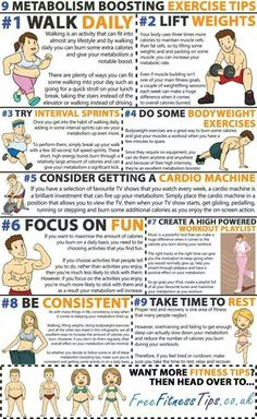 Metabolism boosting exercise tips