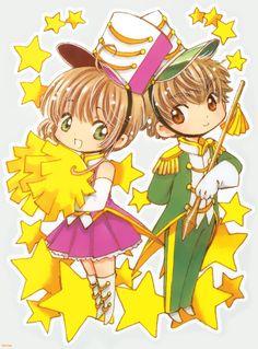 sakura and syaoran chibi Cardcaptor Sakura, Syaoran, Dream Moon, Magic Knight Rayearth, Haruhi Suzumiya, Xxxholic, Card Captor, Clear Card, Kawaii