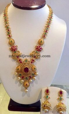 Jewellery Designs: Colorful Haram by Shree Jewellers