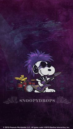 #SNOOPY #スヌーピー(ヘヴィメタル) Snoopy Love, Snoopy E Woodstock, Peanuts Snoopy, Snoopy Wallpaper, Cartoon Wallpaper, Purple Pages, Snoopy Comics, Josi, Snoopy Quotes