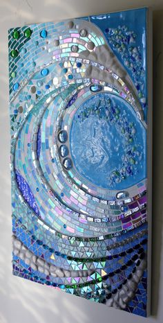 Unique Mosaic, Fused and Stained Glass Creations by GlassArtsStudio Mosaic Tile Art, Mosaic Artwork, Mirror Mosaic, Mosaic Glass, Mosaic Projects, Art Projects, Surfboard Painting, Mosaic Garden, Mosaic Patterns