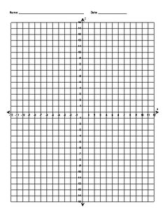 coordinate plan | Data Illustrated: Resources - Coordinate Grid and Plane Worksheets