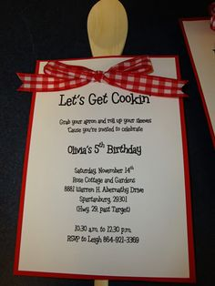 Baking Party Invites and Favors - Sweet Shoppe Gallery