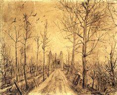 Driveway by Vincent van Gogh. Post-Impressionism. landscape