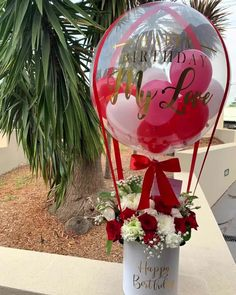 Repost from using - Looking for something a little extra? 😍 Order one of our Hot Air Balloon gifts 🎁 Head to the link in bio 🌹 🎈 . Mothers Day Balloons, Valentines Balloons, Birthday Balloons, Balloon Box, Balloon Gift, Balloon Bouquet, Balloon Centerpieces, Balloon Decorations, Ballon Flowers