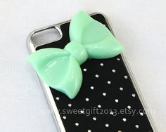 Big Bow Ipod Touch 5 Case Sparkle Ipod Touch 5 by sweetgift2013, $9.99