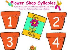 Little ones will enjoy the reward sounds when they correctly match the picture on each flower to the pot that shows how many syllables.Must have ActivInspire software to use.