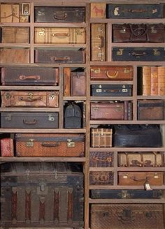 Suitcase wall..custom built, I think...