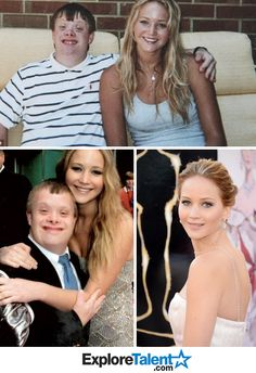 """When Jennifer Lawrence accepted her Oscar for Best Actress in Hollywood, back home in Louisville no one was more excited than Andy Strunk, a young man with down syndrome. Not only is he her #1 fan but has been her best friend since middle school. Once she got off stage she called him and said, """"This was for you, buddy!"""" just another reason why i love her"""