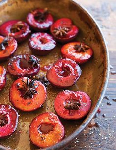 Roasted Plums Recipe | The Superfoods Cookbook by Dana Jacobi (Just plums, sugar, and spice. Pure and simple.)